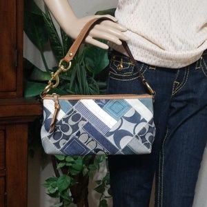 COACH DENIM PATCHWORK BAG